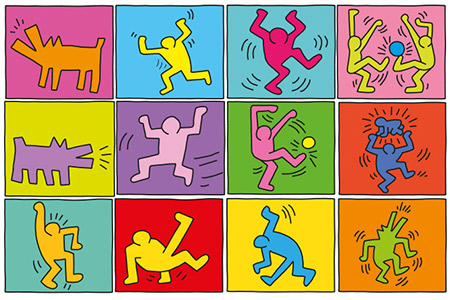 Keith Haring Gruppenarbeit